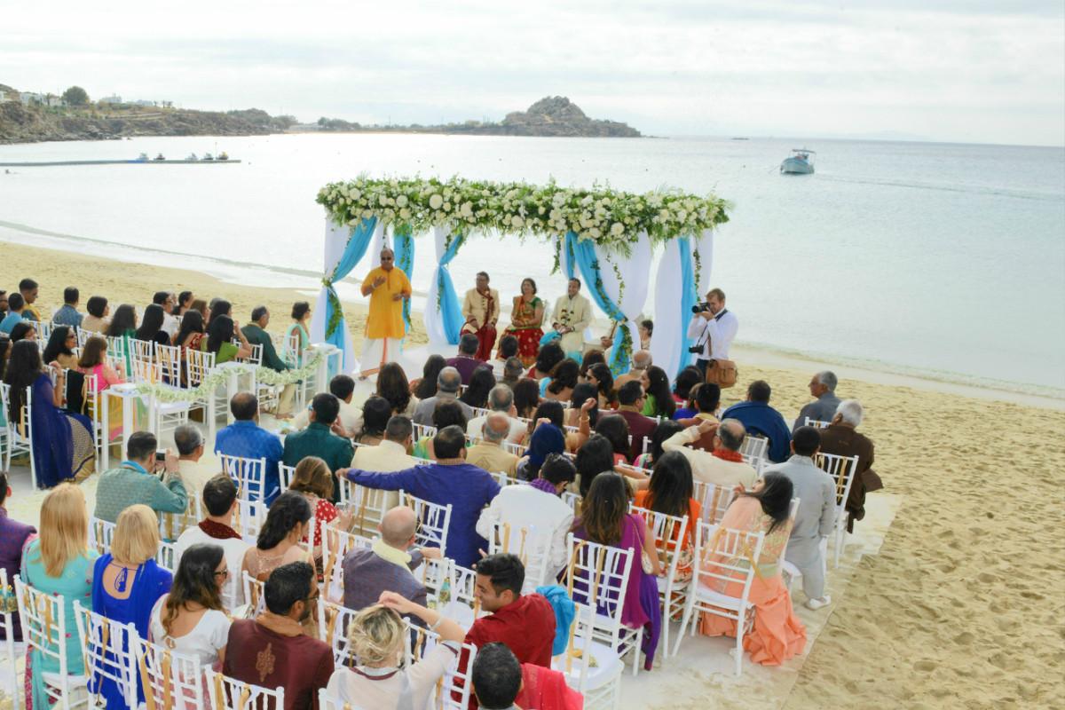 An Indian Wedding in Mykonos island